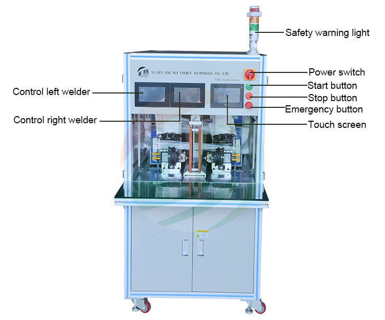 Double-side Cylindrical Battery Pack Spot Welding Machine