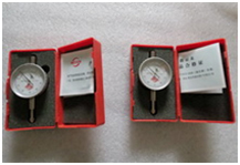 Dial gauge for hot roller press machine