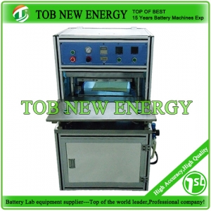 Manual hot pressing shaping machine for lithium battery